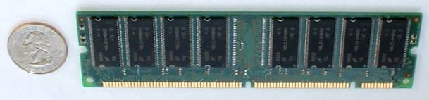 Computer Memory Upgrade - Back View Of SDRAM memory module